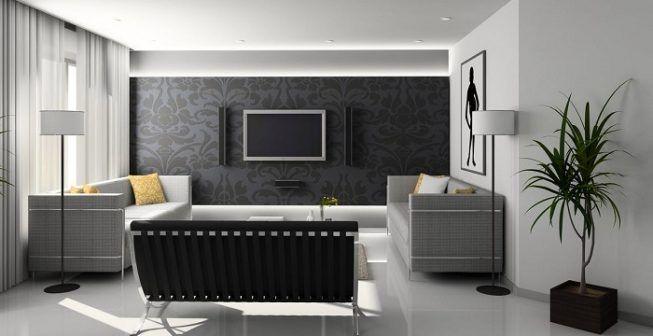 Blanco y negro en casa minimalista
