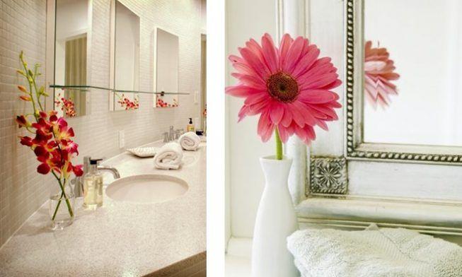 Flores para baño