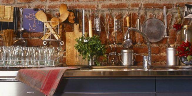 Ladrillos en cocinas rusticas