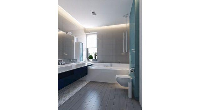 Luces LED en baño pequeño