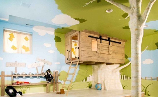 Habitación infantil con cabaña incluida