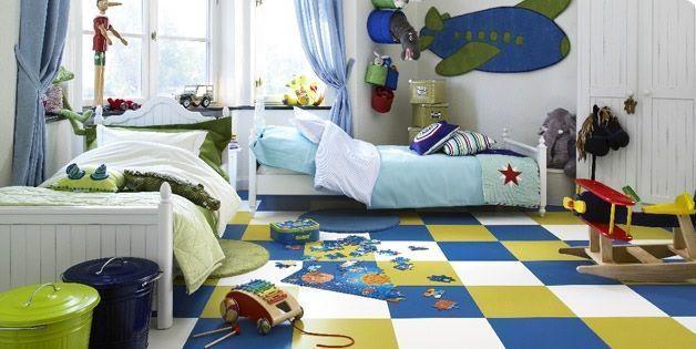 Piso de goma en habitación infantil - Foto de Decoracion e Interiores