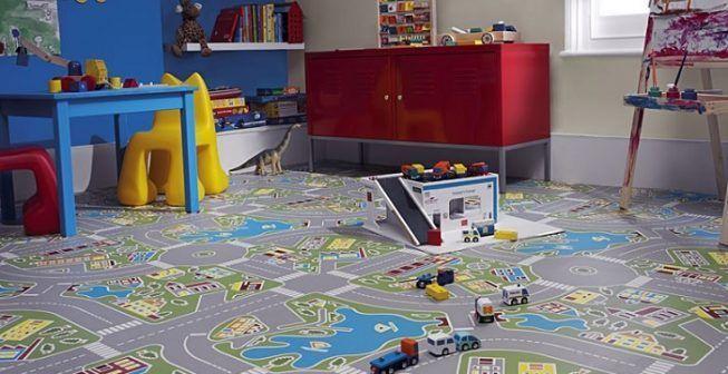 Piso de vinilo en habitación infantil - Foto de Leroy Merlin