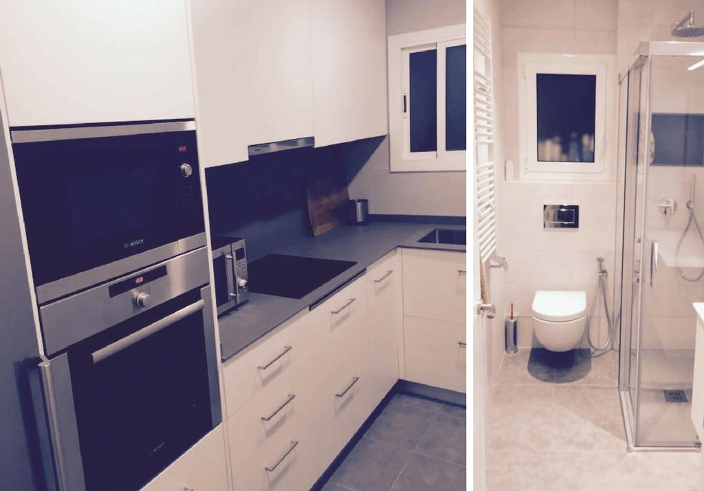 Reforma en Hospitalet de cocina y baño