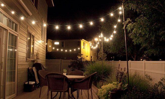 Luces en terraza