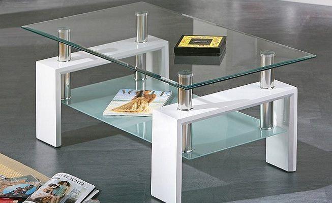 Mesa de centro en cristal