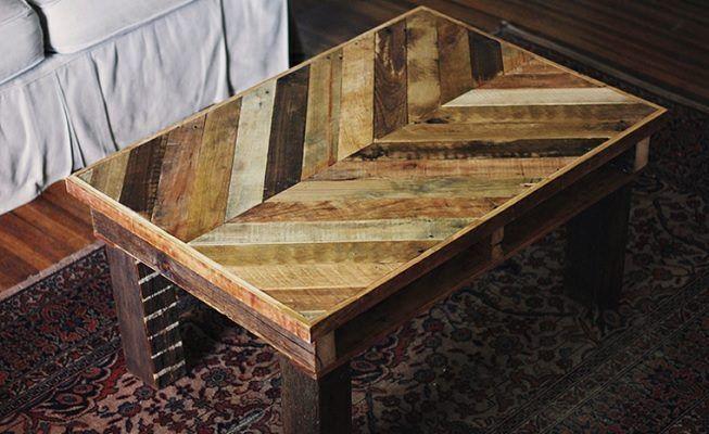 Mesa de centro en madera de palets