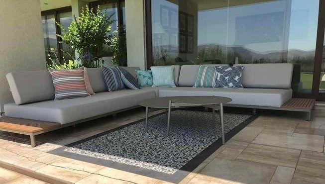 Sofá en terraza