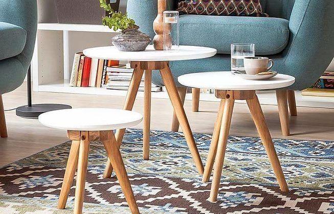 mesas de centro de dos o tres