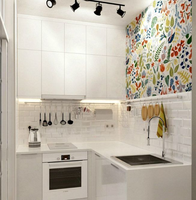 Cocina pintada en color blanco