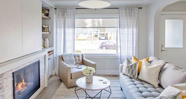 5 estilos de cortinas para tu sala de estar