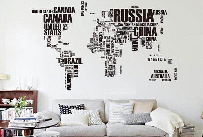 Vinilos de mapa