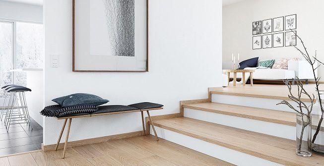Casa que no pasa de moda con piso de madera