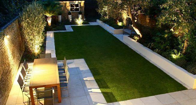 Iluminación en jardín