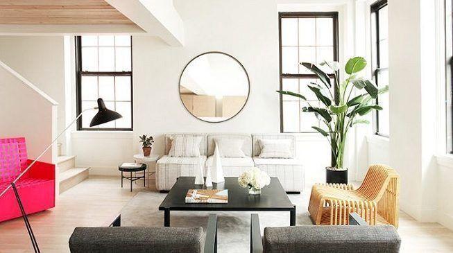 Espejos en salas de estar