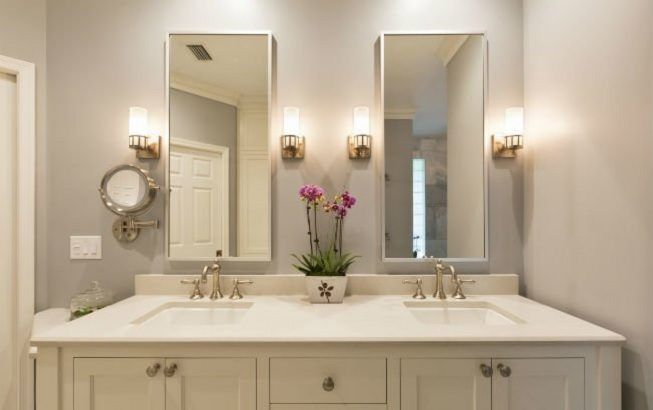 Idea para iluminar el baño