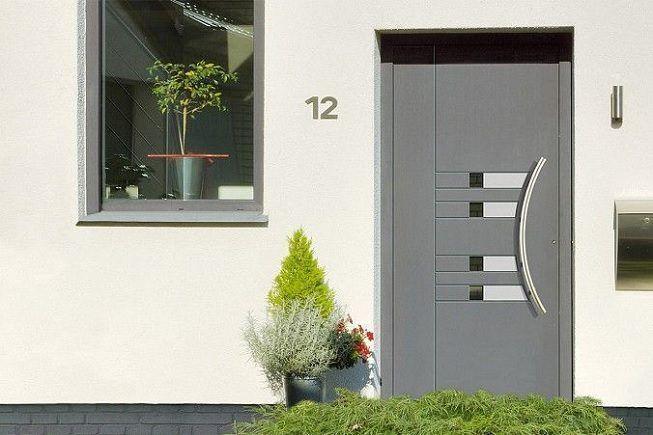 Puerta de aluminio para casa