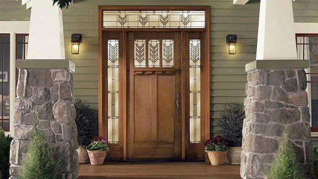 Puerta de madera para casa