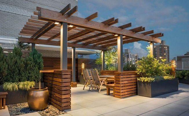 Techo de madera para exterior