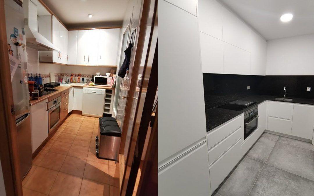 Diseño y reforma de una cocina en Barcelona, calle Diputación