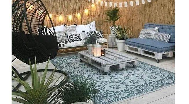 Iluminación en terraza