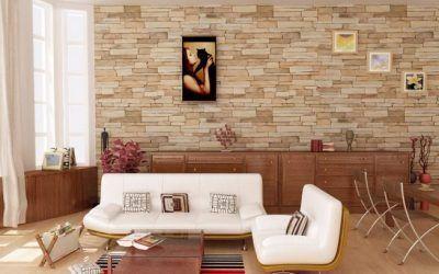 5 ideas interesantes para revestir las paredes del salón de tu hogar