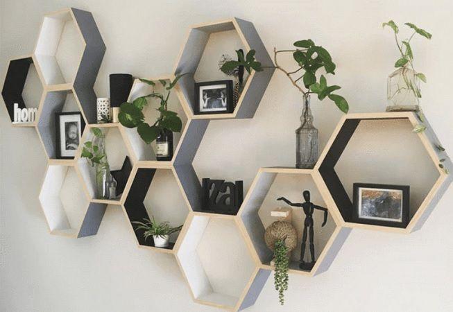 Figuras geométricas en las paredes