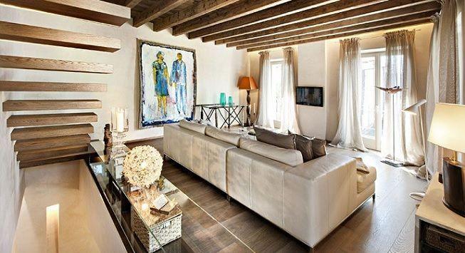 Ideas para decorar casa moderna con elementos rústicos