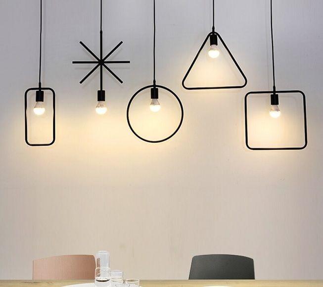 Lámparas en figuras geométricas
