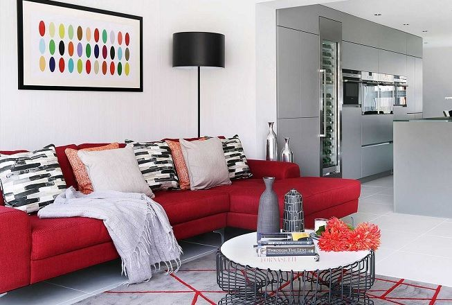 Rojo en decoración