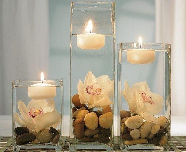 Jarrones con velas
