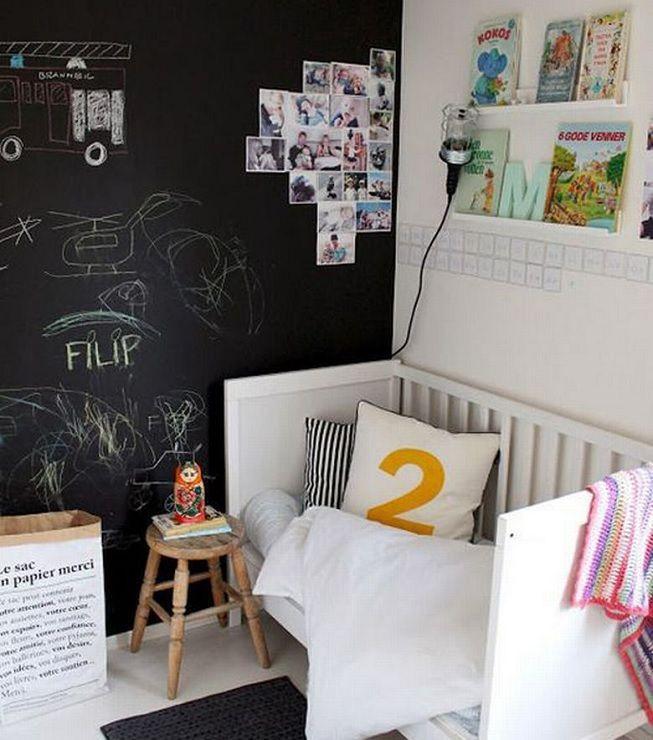 Pintura de pared en habitación de niños