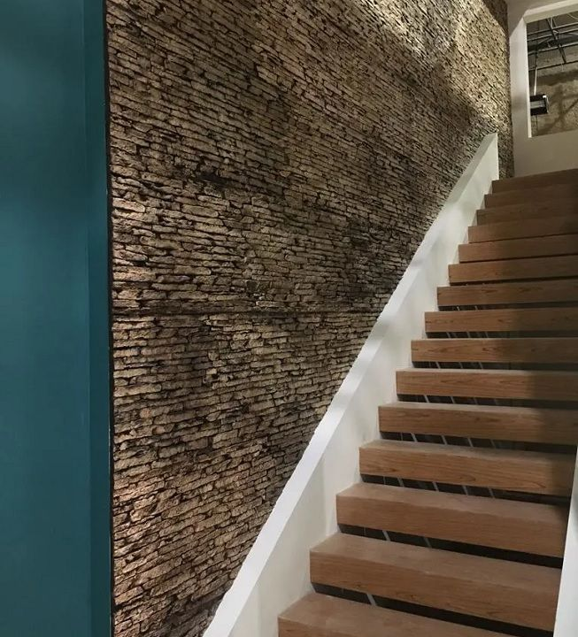 Escalera en piedra de marmol