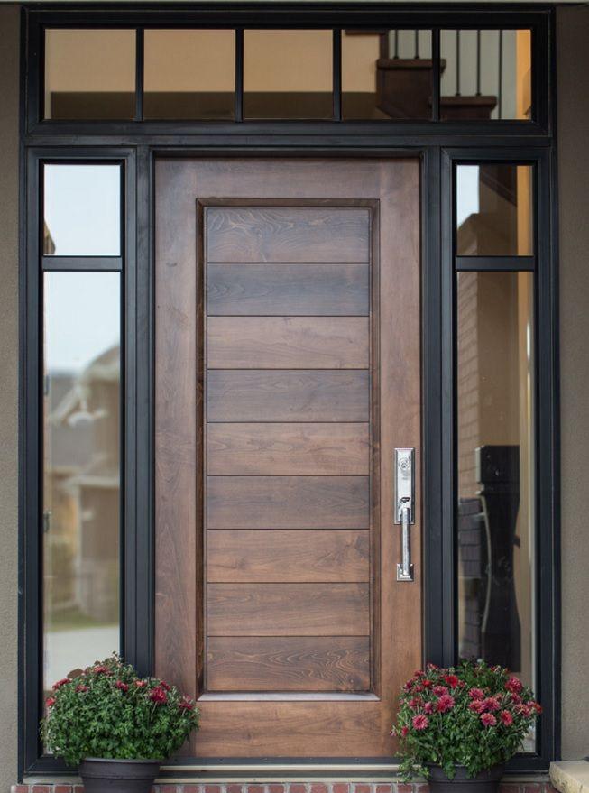 Puerta moderna con vidrio