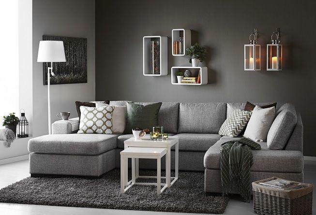 Salón gris con gris