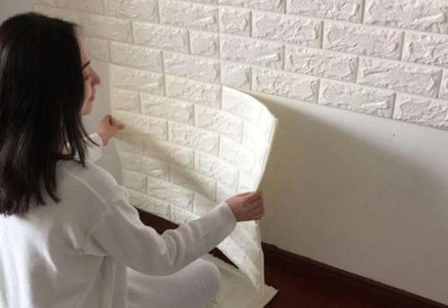 Imitación de ladrillo en pared