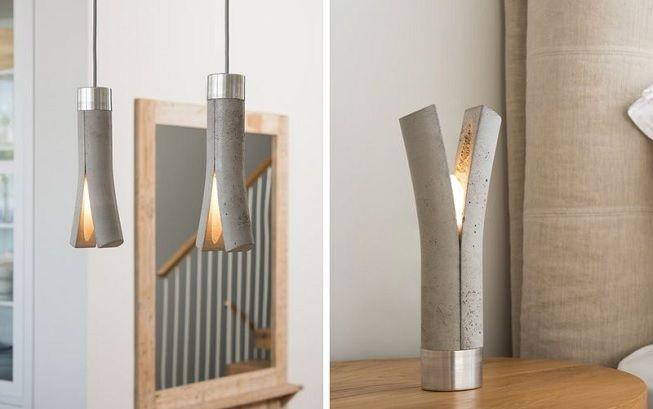 Lámparas en cemento
