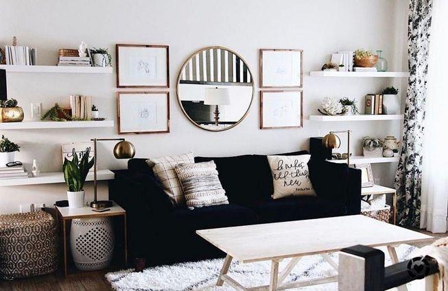 Sala de estar ordenada