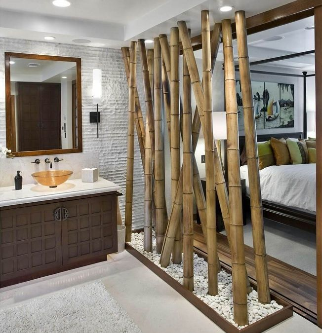 Bambú en decoración sostenible